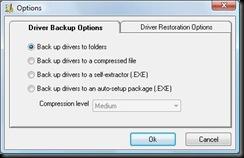 Driver Magician Backup Options
