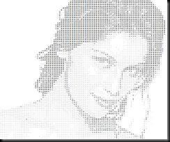 Lady Portrait - ASCII